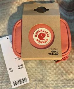 Authentic New With Tags Fjallraven Kanken Card Wallet-Pink