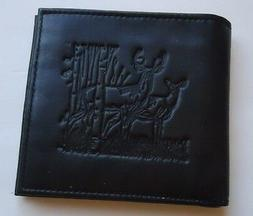 Big Buck Tall Hipster Genuine Leather Wallet, Black