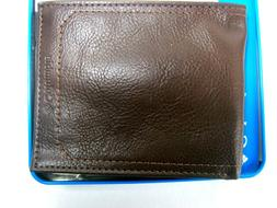 NEW COLUMBIA BROWN GENUINE LEATHER BILLFOLD RFID WALLET 31CP