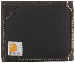 Carhartt Mens Canvas Wallet with Removable Passcase Black On