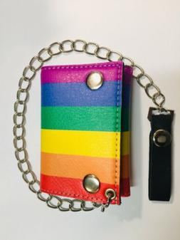 chain wallet trifold pride flag