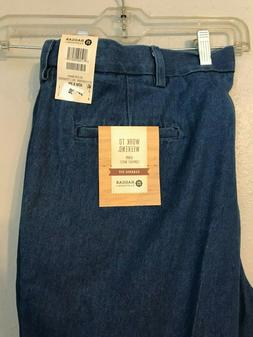 Haggar Classic Fit Plain Front Work to Weekend Mens Jeans 42