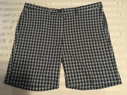 Haggar Cool 18 Pro Mens Golf Shorts Comfort Stretch Plaid He