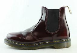 Dr. Martens Mens Vegan Cherry Red Ankle Boots Size
