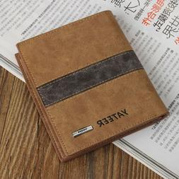 Fashion Bifold Men's Leather Wallet Credit ID Card  Multi Po