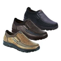 Fashion Men's Leather Casual Shoes Breathable Antiskid Loafe