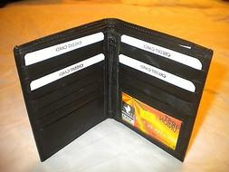 Genuine Leather European Bifold Big/Large/Tall WALLET for ID