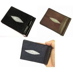 Genuine Stingray Accessories Skin Leather Fashion Bifold Mon
