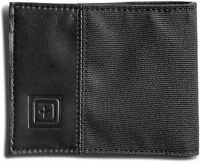 Leather Bifold Wallet, Black, Style 56377