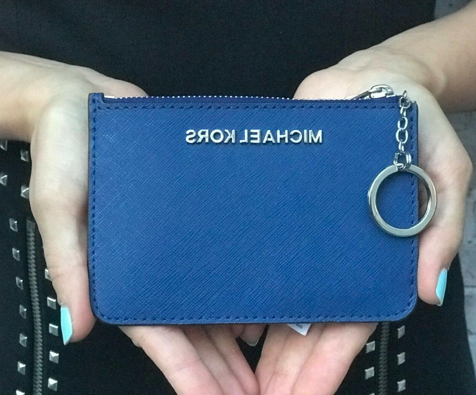 Michael Kors Coin Pouch Wallet Card ID Case with Key Chain H