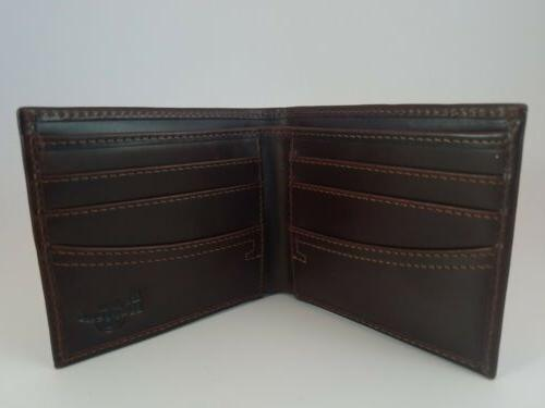 Dr Wallet Burgandy/Brown Smooth with Logo