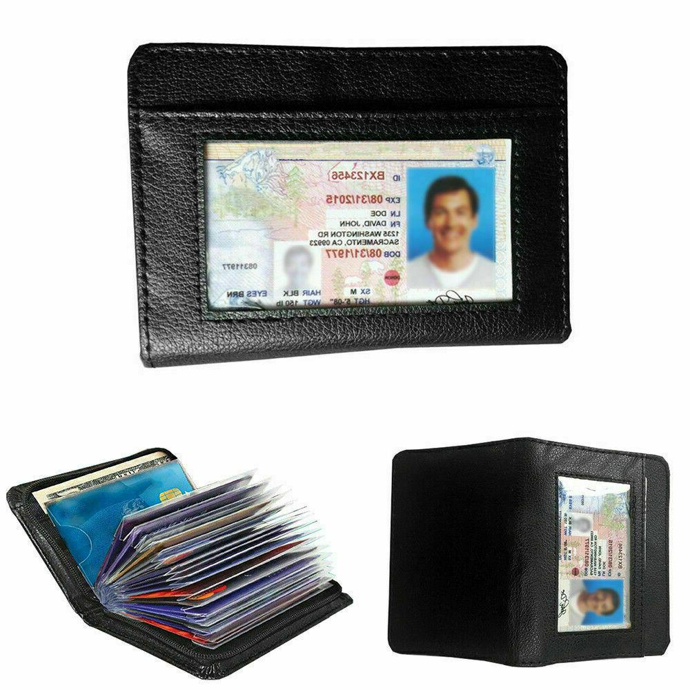 Lock Men RFID Money Credit Wallets
