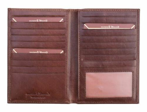 Kenneth Brown Leather Jacket Wallet NEW Note