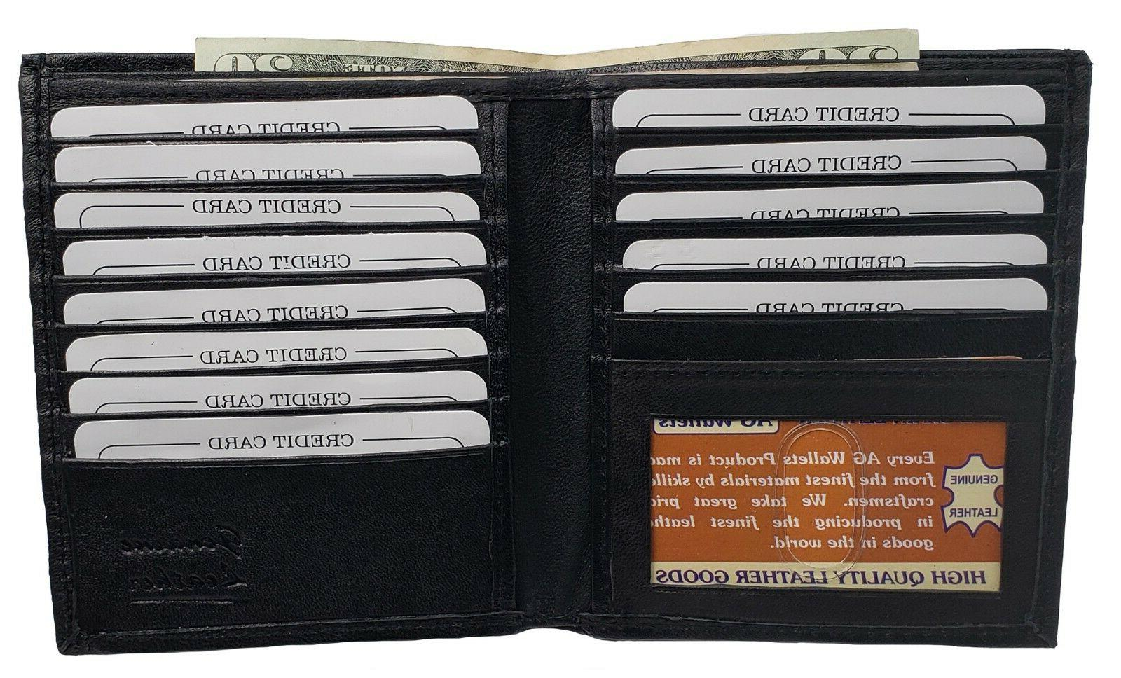 AG Wallets Leather Bifold Hipster ID