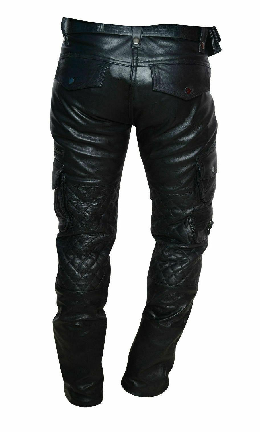 Men's Cowhide Quilted Cargo