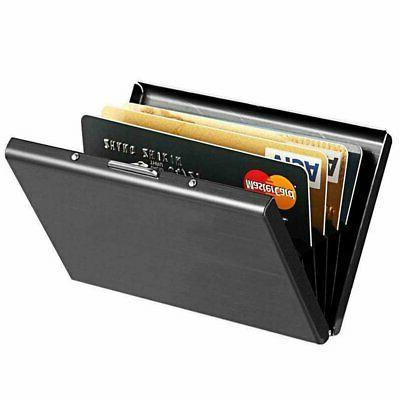 Credit Card ID Holder Slim Money Travel Wallet Men Stainless