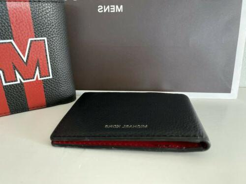 Michael Black Red Leather Logo
