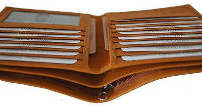 Mens Genuine Leather Wallet Slim Credit Card and ID