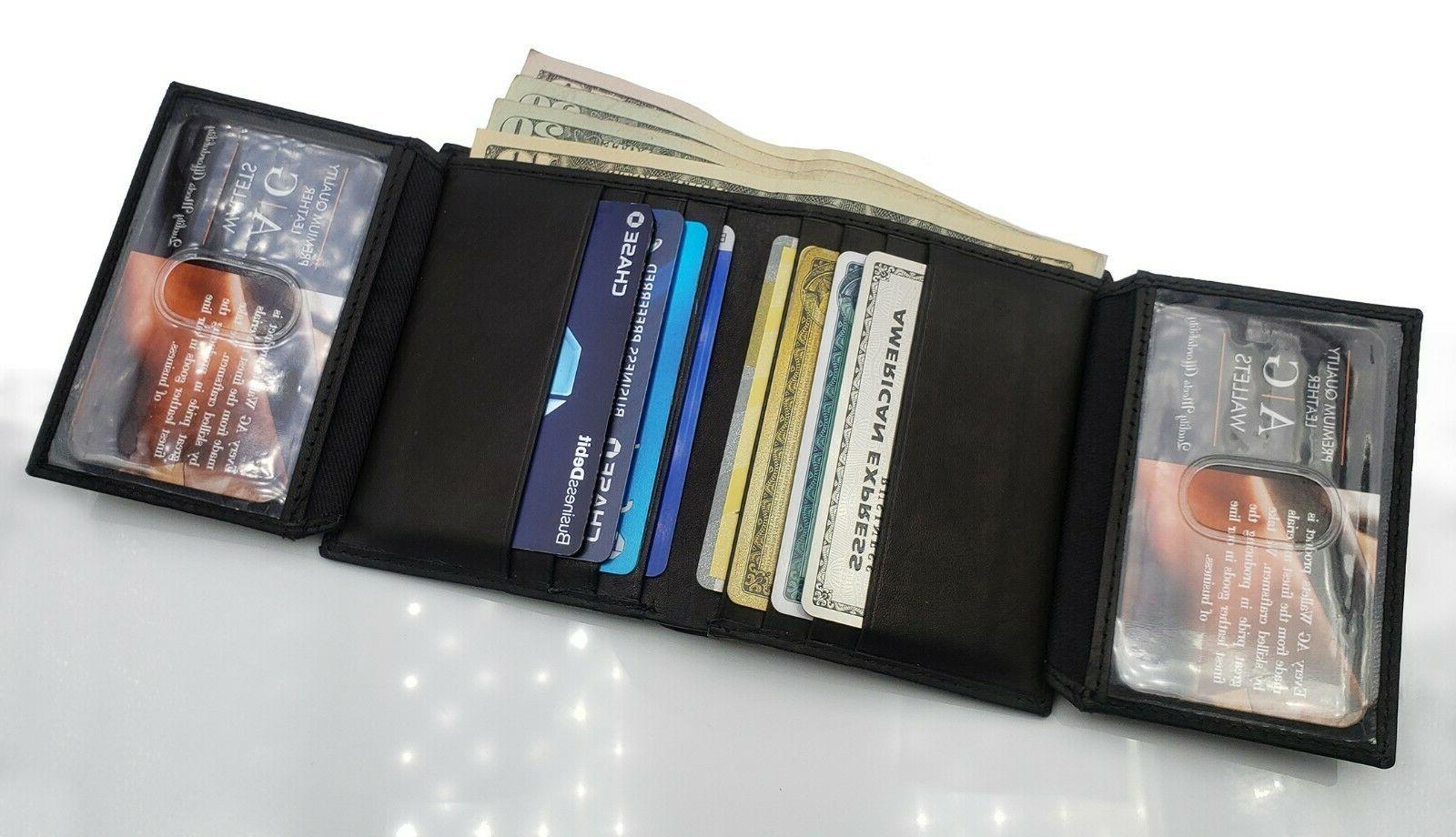 AG Leather Bifold Slim Wallet Multi Card And Holder