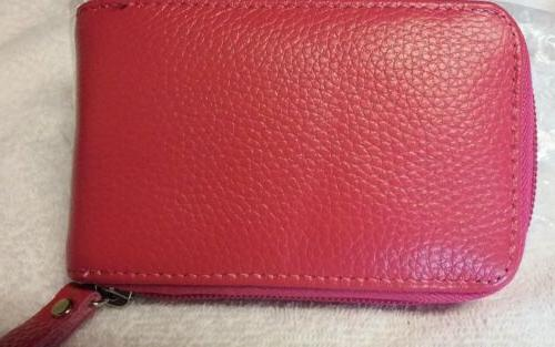 Mens/Womens Leather Zip Wallet ID Credit