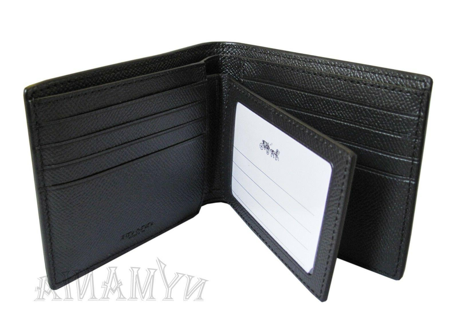 New F59112 Mens 3-IN-1 Compact ID Leather GIFT BOX
