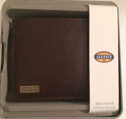 Fossil ML3614201 Genuine Leather Wallet Bifold Mens New