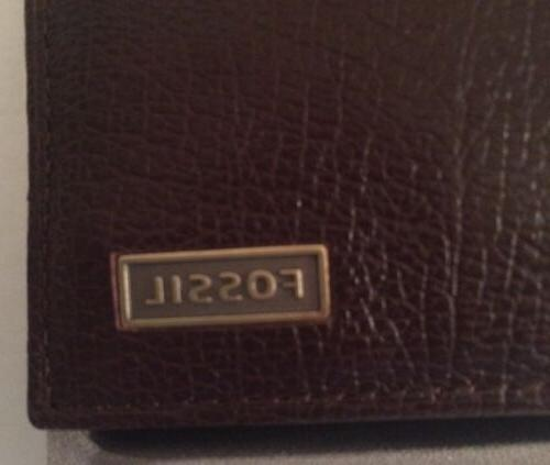 Fossil Omega Brown Genuine Leather Bifold