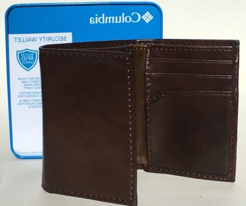 COLUMBIA In RFID Trifold Brown