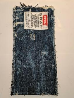 handmade Levi's jean wallets made from thrifted materials