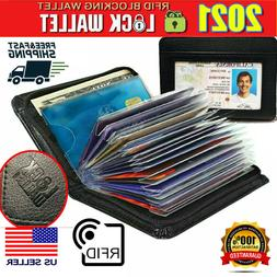 lock slim wallet secure men women rfid