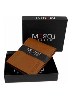 Men Brown Solid Wallets Boys Soft Leathers Pocket Purse Acce