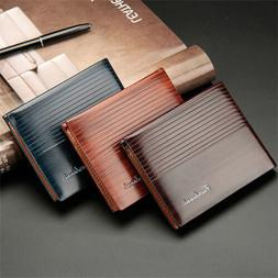 Men Multiple Leather Slim Card Holder Wallets RFID Blocking