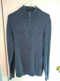Izod Men's Blue Zip-up Pullover Size Large Nwt
