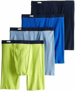Fruit of the Loom Men's Boxer Briefs 4-Pack Sizes 2X 3X Asso