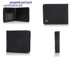Lee Men's Canvas and Leather Billfold RFID Blocking Wallet D