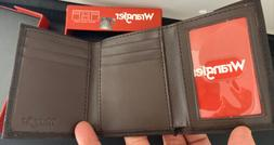 Men's Cocoa Brown Trifold Smooth Leather Wallet