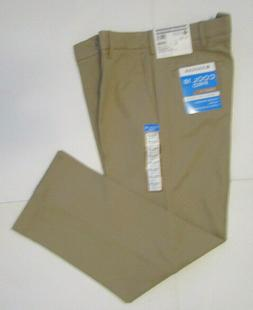 Men's Haggar Cool 18 Pro Dress Pants, New Beige Straight Fit
