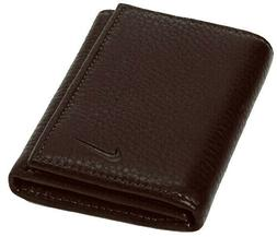 Nike Golf Men's Genuine Brown Leather Pebble Trifold Wallet