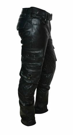 men s genuine cowhide leather quilted panels