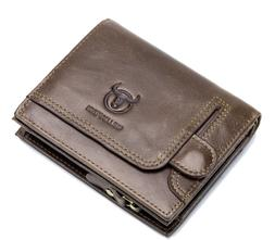 Men's Genuine Leather Wallet RFID ID Coin Purse Card Case Vi