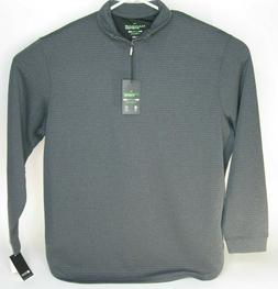 Men's Haggar In-Motion Stretch Quarter-Zip Pullover  gray Ne