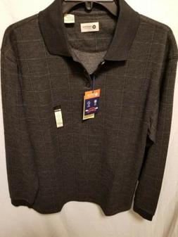 Haggar Men's Long Sleeve Polo Shirt Sz.Med NWT $55