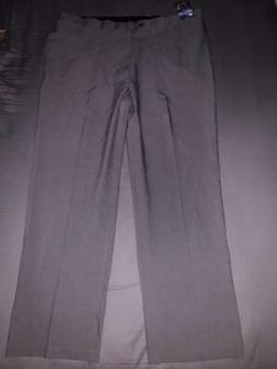 Haggar Men's REPREVE Stria Grey Smart Fiber Dress Pants Size