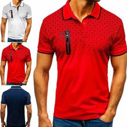 Men's Slim Fit Polo Shirts Short Sleeve Casual Golf T-Shirts