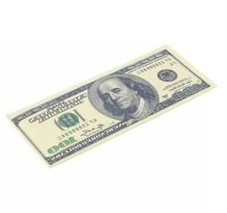 Men's USA $100 One Hundred Dollar Bill Synthetic Leather Bif