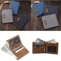 Menpurse Portable Denim Canvas Wallet Men Denim Men Accessor