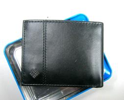 Columbia Mens Bifold Leather RFID Security Wallet Black 31CP