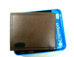 Columbia Mens Bifold Leather RFID Security Wallet Brown 31CP