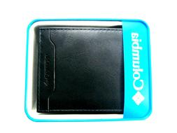 Columbia Mens Bifold Leather Wallet Brown 31CP2200Z01 RFID S
