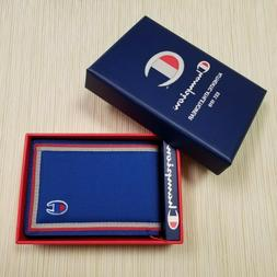 MENS CHAMPION BLUE BIFOLD WALLET WITH ORIGINAL GIFT BOX CH30